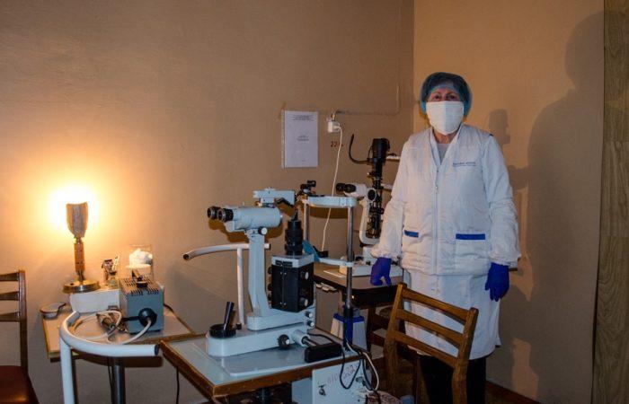 Оглядова кімната кабінету лікаря – офтальмолога